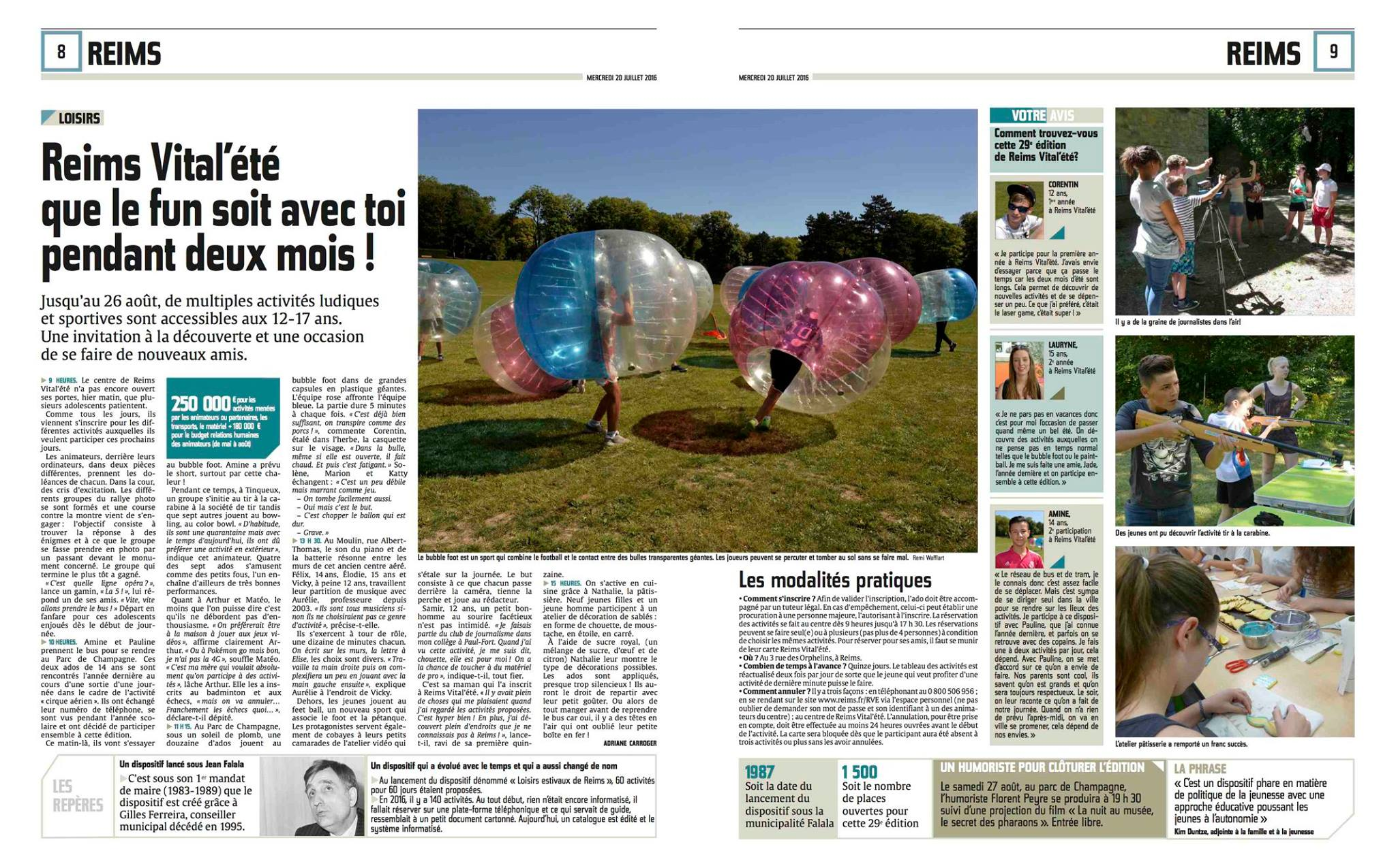 Vital Reims se met à l'heure Bubble